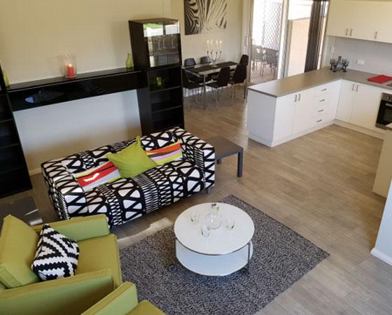 Osprey Village - lounge and kitchen
